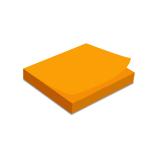 Samolepicí bloček 100x75 mm, 100 listů, neonově oranžový