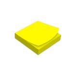 Samolepicí bloček 75x75 mm, 100 listů, neonově žlutý